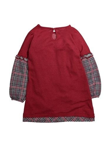 Zeyland Ekose Parçalı Simli Elbise (5-12yaş) Ekose Parçalı Simli Elbise (5-12yaş) Bordo